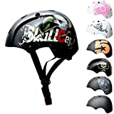 SkullCap® BMX & Casco per Skater Casco - Bicicletta & Monopattino Elettrico, Design: Eagle, Taglia: M (55-58 cm)