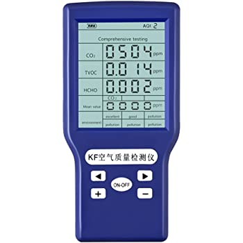HCHO Elikliv HCHO TVOC CO2 Detector Digital LCD Display Air Quality Monitor Formaldehyde Tester Meter CO2 Formaldehyde TVOC ppm Meters