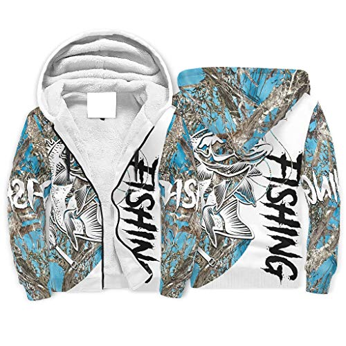 O5KFD&8 Mann Reißverschluss Super Vlies Hoodies Männer Frauen Fishing Tattoo-Mirror Logo Mit Känguru-Tasche - Kordelzug Weich & Gemütlich Jacke white3 3XL