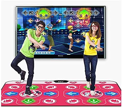 XUMING Doppelte Tanzmatte, rutschfeste Tanzmatte mit Kabel, leidenschaftlicher Tanzschritt-Deckenrhythmus und Beat-Spielmatte für PC und Fernseher mit USB