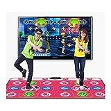 XUMING Doppelte Tanzmatte, rutschfeste Tanzmatte mit Kabel, leidenschaftlicher Tanzschritt-Deckenrhythmus und Beat-Spielmatte für PC und Fernseher mit USB -