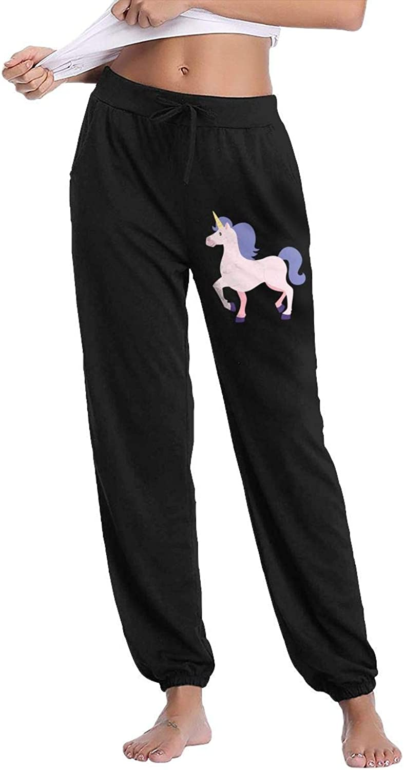 Women's Unicorn Horse Gym Workout Track Pants With Pockets