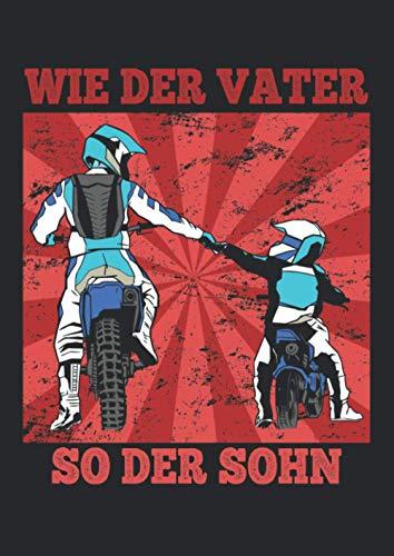Notizbuch A4 punkte mit Softcover Design: Motocross Vater Sohn Geschenk Spruch Enduro Dirtbike: 120 dotted (Punktgitter) DIN A4 Seiten