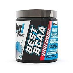 powerful BPI Sports Best BCAA Shred – Caffeine Free Thermogenic Recovery Formula – BCAA Powder – Lean…