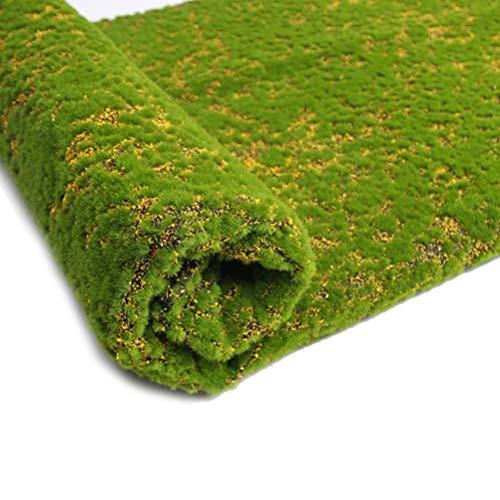 MILISTEN Kunstmatige Moss Sheet Mat Tapijt Nep Moss Turf Synthetische Landschap Gazon Tapijt Voor Diy Bruiloft Achtertuin Patio Balkon Decoraties 100Cm Geel Punt