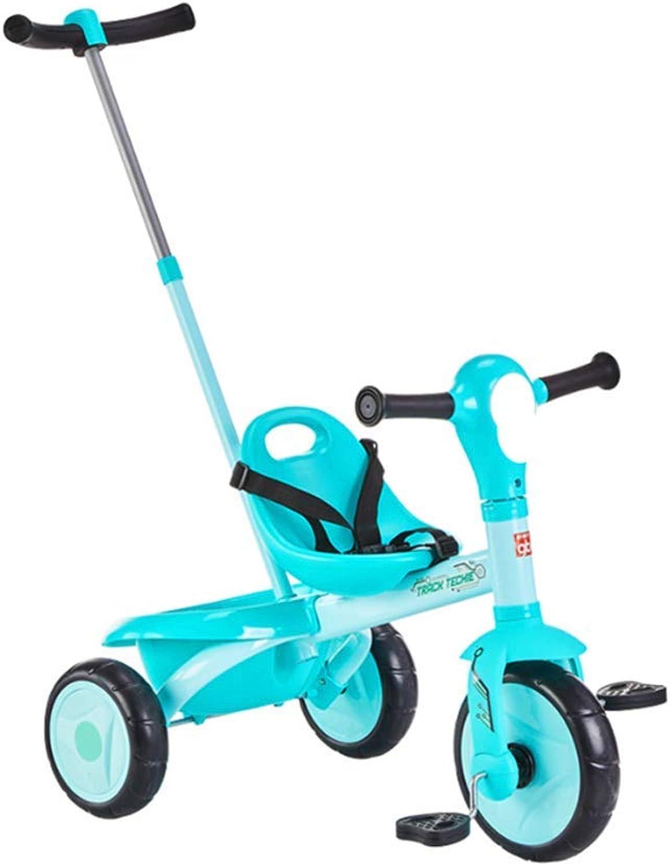 Minmin-chezi Kinder Dreirad Trolley 2-5 Jahre alt Kinderwagen Baby Fahrrad Dreirad kann gefrdert Werden