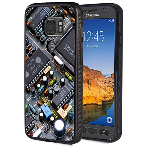 Galaxy S7 Active Case,Motherboard Anti-Scratch Shockproof Black Silicone Rubber TPU Protective Case Cover for Samsung Galaxy S7 Active (2016)