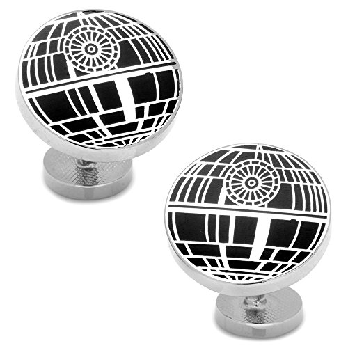 Star Wars pour homme encastré Matte étoile de la mort Boutons de manchette (Sw-ds-sl)