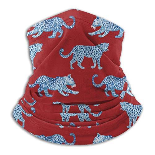 Patrón de tigre Raya animal Rojo Unisex Adulto Cuello más cálido Pasamontañas A prueba de viento Cubierta facial Polvo Deportes Medio pañuelo
