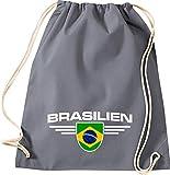 Shirtstown Gym Brésil, blason, Land, pays, gris, 37 cm x 46 cm