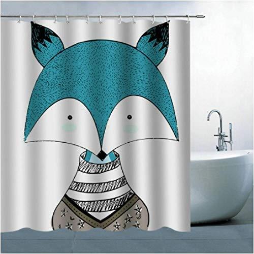 Cortina de baño Linda de Dibujos Animados Tela de poliéster Impermeable Cortina de Ducha Estampada...