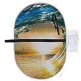 Surf colorato onda oceanica che cade al tramonto fasciatoio da viaggio fasciatoi da viaggi...