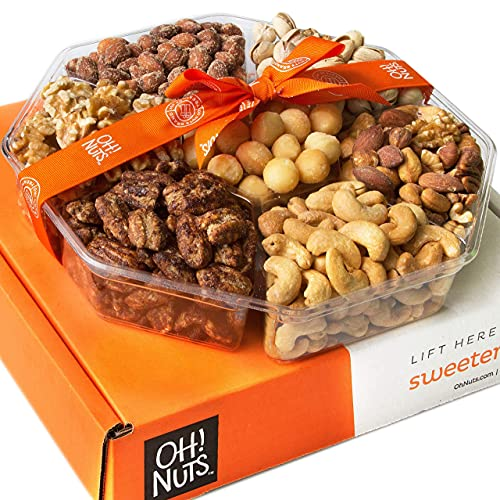 Oh! Nuts Christmas Gourmet Nut Gift Basket, (2.2 LB) Large 7 Variety...