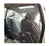 Pellicola isolante per taxi per auto PVC Pellicola protettiva trasparente impermeabile 4,6 piedi * 6,6 piedi (6,6 piedi (1,4 × 2 metri) Pellicola isolante in plastica anteriore e posteriore,4pcs