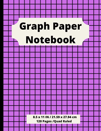 Graph Paper Notebook: Grid paper , quad ruled 5X5 Perfect for math, science, school, college, drawing, writing, to-do lists, engineering,architects and more! (8.5x11 in , 120 pages)