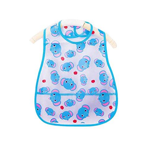 Weich-PVC, EVA-Baby wasserdichte Lätzchen für 1-3 Jahre Baby Blue Elephant