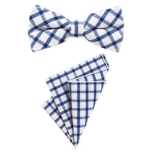 DonDon Pajarita para hombres 12 x 6 cm con pañuelo de bolsillo de col