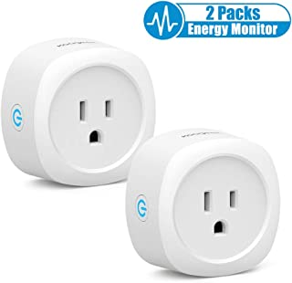 Smart Plug, Koogeek Wifi Smart Outlet Works with Alexa Google Assistant IFTTT, Voice Control Remote control with Energy Monitor Function, No Hub Required,ETL and FCC Listed,Supports 2.4GHz (2 Packs)
