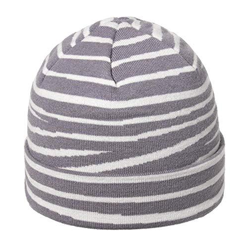 Sombreros gorra de béisbol Sombrero de patrón de caballo de moda sombrero de punto sombrero de lana de color sólido a rayas para mujer-gris_58cm ajustable