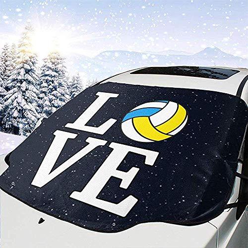 GOSMAO Amor Bola de Voleibol Cubierta del Parabrisas Delantero del Coche Cubierta de Nieve de Cristal del Coche 147x118cm