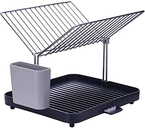 HLL Almacenamiento en el hogar Suministros de cocina Rejilla de drenaje para platos en Y/Rejilla para platos/Estante Utensilios de cocina
