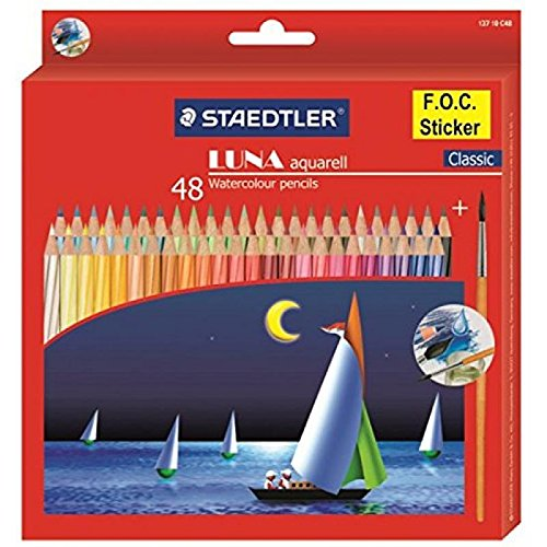 Staedtler Luna Watercolor Pencil Pack of 48 Shades (With Free Gift)