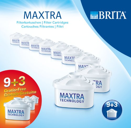 Brita 1008003 Pack de 9 Cartouches MAXTRA + 3 offertes