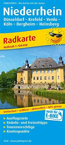 Niederrhein, Düsseldorf - Krefeld - Venlo - Köln - Bergheim - Heinsberg: Radkarte mit Ausflugszielen, Einkehr- & Freizeittipps, wetterfest, reissfest, abwischbar, GPS-genau. 1:100000 (Radkarte / RK)