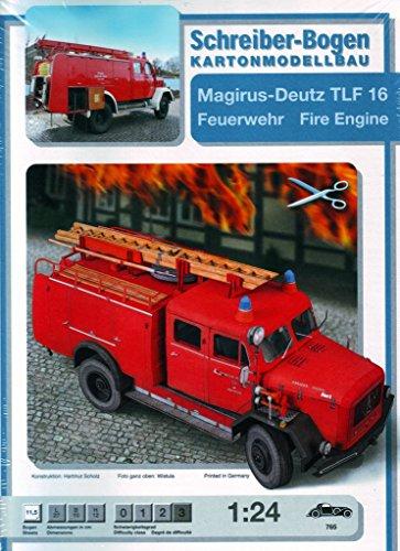 Aue Verlag Schreiber-Bogen Kartonmodellbau Magirus-Deutz TLF 16 Feuerwehrwagen