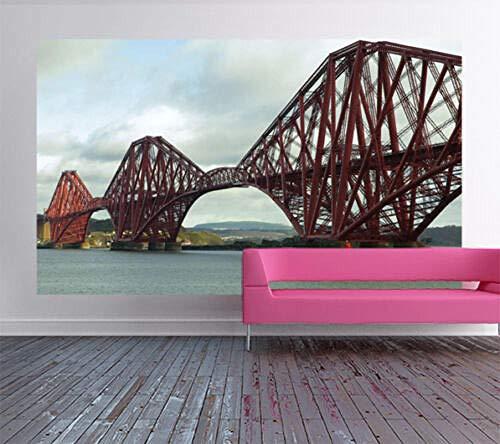 Die Forth Rail Bridge Schottland Bild Wandbild Selbstklebende Tapete-350 * 245Cm