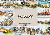 Florenz Hauptstadt der Toskana (Wandkalender 2019 DIN A2 quer): Die Stadt Florenz in Aquarell (Monatskalender, 14 Seiten )