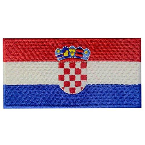 EmbTao Kroatien Flagge Bestickter kroatisch Aufnäher zum Aufbügeln/Annähen