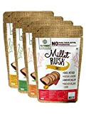 Multi-Millet Rusk - No Maida or Sugar No added flavours Preservative Free - Assorted - Pack of 4