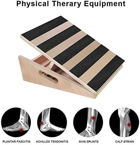 Extra Side Handle Design for Portability Adjustable Incline Ankle Stretching Board 5 Positions Workout Board TOUCH-RICH Professional Wooden Slant Board Calf Stretcher