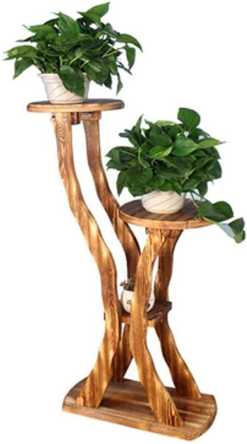 Gifts & Decor Plant Stand Shelf Flower Racks Solid Wood Multi-Storey Floor Flowers Frame Flowers Woods Balcony Balcony Living Room Interior Radish (color   A)