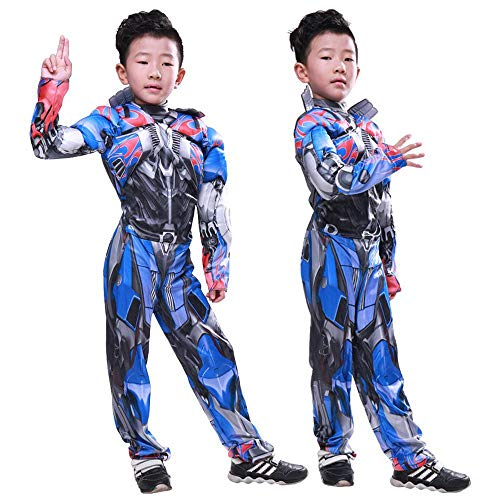 Chang Cosplay Kleidung Kind Optimus Prime Cosplay Kostüm Autobot Transformers Hero Muskel Kleidung 3D Digitaldruck Enge Weihnachten Halloween Kostüm Costume,S