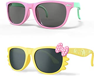 MOTOEYE Kids Cat Eye Sunglasses for Girls Boys Children...