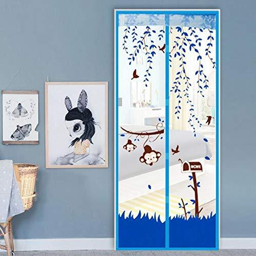 Hochwertige magnetische Haushalt praktische dekorative Mesh Bildschirm Tür Tor Insektenfliege Moskitonetz mit hoher Breite und 80-120 cm Breite und 210 cm Höhe P3 B 120 x H 210 cm