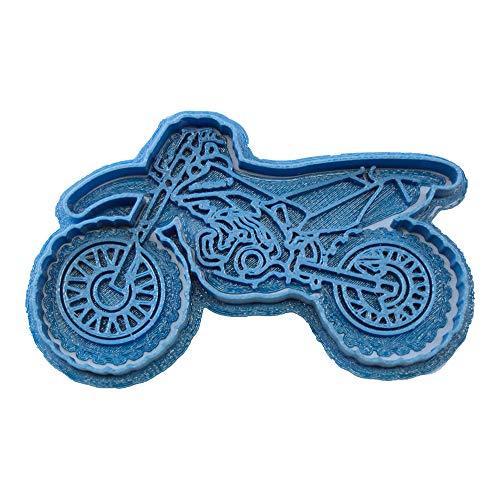 Cuticuter Moto Kawasaki Moule de Biscuit, Bleu, 8x 7x 1.5cm