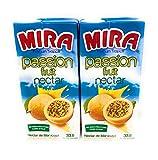 Mira Passion Fruit Nectar 33.8oz (1 liter), 2 Pack