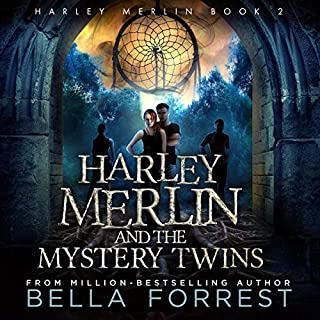 Harley Merlin 2: Harley Merlin and the Mystery Twins  audiobook cover art