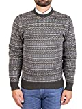 Alan Paine Mod. 050N25 Suéter Cuello Redondo Towthorpe Lambswool Hombre Verde 56