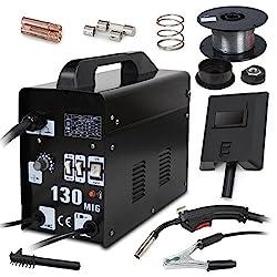 MIG Welder MIG 140 Wire-Feed 115V Welding Machine with Free Gloves Mask Brush