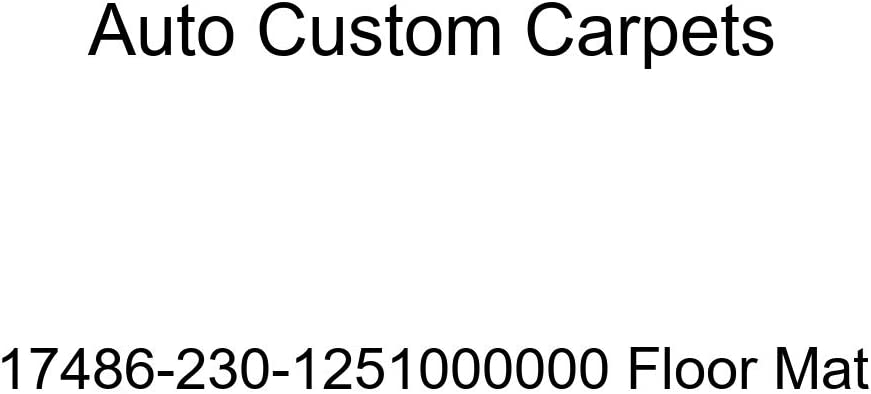 Auto Custom Carpets Max 73% OFF 17486-230-1251000000 Mat Floor security