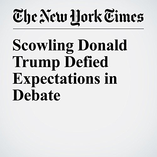 Scowling Donald Trump Defied Expectations in Debate cover art