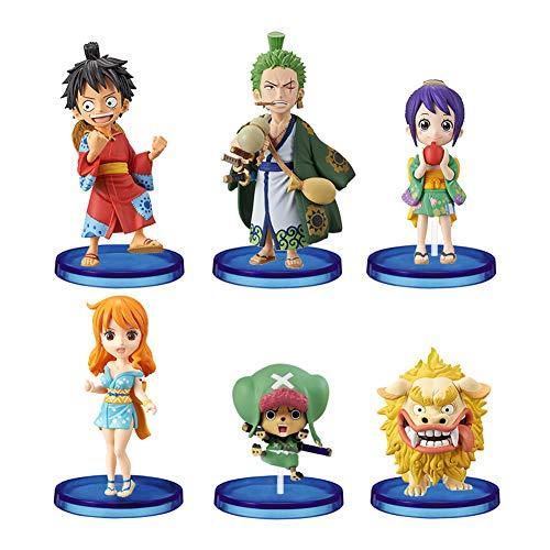 6 Ensembles De Figurines One Piece, Luffy, Zoro, Chobana Et Wcf One Piece, Figurines d'action