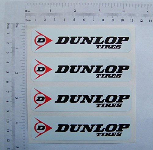 Dunlop, 4x Full Farbe Aufkleber, 102mmx25mm, S190