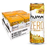 Humm Probiotic Kombucha Zero Sugar Ginger Lemonade - No Refrigeration Needed, Keto-Friendly, Organic, Vegan, Gluten-Free - 11oz Cans (16 Pack)