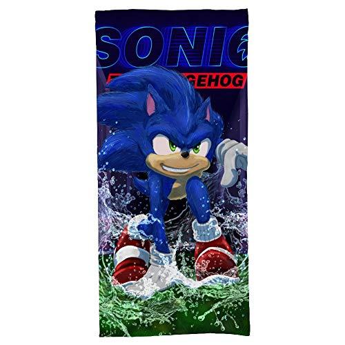 hoist Sonic The Hedgehog - Toalla de baño de 5 estrellas, calidad de hotel de primera calidad, suave, felpa y muy absorbente, 70 x 140 cm