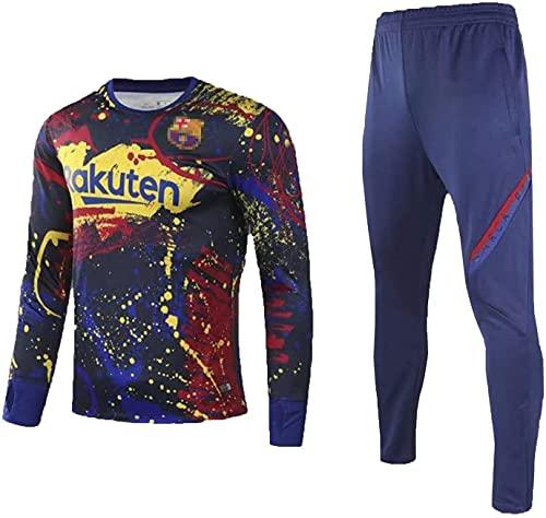KMILE Bǎrcělǒnǎ Regalo Oficial de fútbol fútbol de fútbol de fútbol de fútbol fútbol Manga Larga suéter Juventud Ropa Deportiva Estudiante Ropa Deportiva (Color : Multi-Colored, Size : XXL)